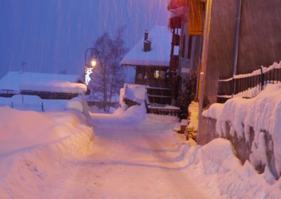 Outside The Chalet & Apartment At Night